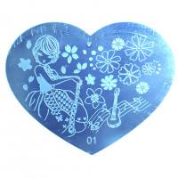 Трафарет для стемпинга в форме сердца 9