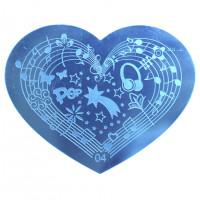 Трафарет для стемпинга в форме сердца 16