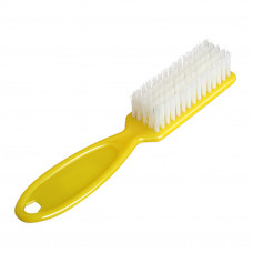 Щетка для ногтей цветная длинная ручка(желтая)