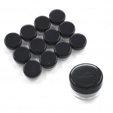 Баночки-закрутки круглые 7 мл набор 12 шт. (черные)