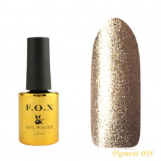 F.O.X gel-polish gold Pigment 038, 12 ml