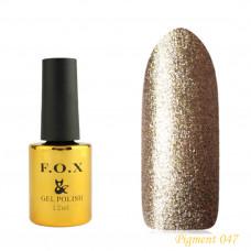 F.O.X gel-polish gold Pigment 047, 12 ml