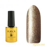 F.O.X gel-polish gold Pigment 048, 12 ml