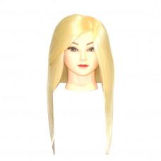 Голова учебная Блондинка (иск.термо.волосы)