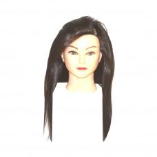 Голова учебная Брюнетка (иск.термо.волосы)
