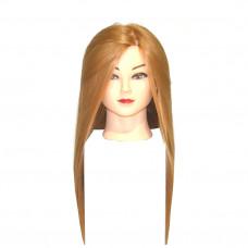 Голова учебная Шатенка (иск.термо.волосы)