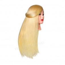 Голова учебная Блонд. (натуральный волос)