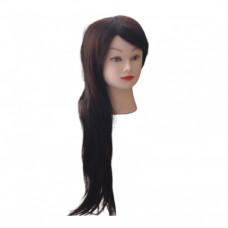 Голова учебная (иск. термо. волосы) HT4-BROWN