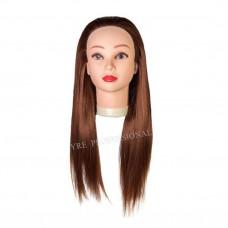 Голова учебная (иск. термо. волосы) HT30B-MAROON