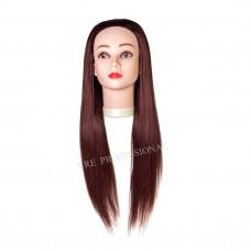 Голова учебная (иск. термо. волосы) 33