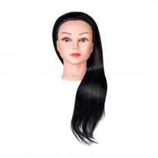 Голова учебная (иск. термо. волосы) 521-4A#
