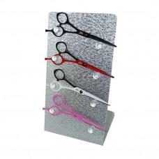 Подставка для ножниц серебро