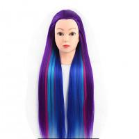 Голова учебная, цветные волосы