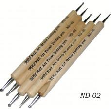 Дотс, деревянная ручка по 5шт.