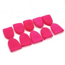 Набор зажимов силиконовых для снятия гель лака 10 шт (рука)