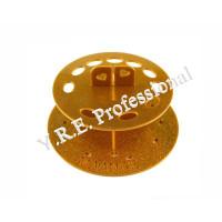 Подставка для кистей круглая золотая