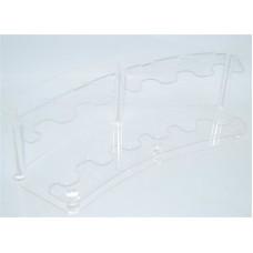 Подставка для расчесок прозрачная дуга
