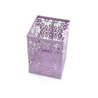Подставка для кистей и пилок цветы металлическая квадратная маленькая