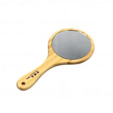 Зеркало для клиента кругло мал. в деревянной оправе