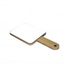 Зеркало квадратное на ручке деревянной R61