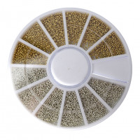 Контейнер-карусель бульонки (золото-серебро пластм)