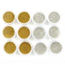 Набор бульен 12 шт. золото-серебро