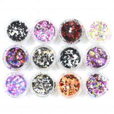 Набор конфети  12 шт микс2