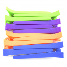Зажим пластиковый цветной для волос 12 шт