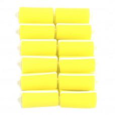 Бигуди паролон. d 28 (12шт) желтые