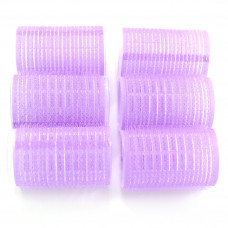 Бигуди липучка 36 мм. уп. 6 шт. фиолетов.